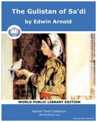 The Gulistan of Sa'di by Arnold, Edwin
