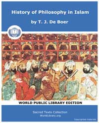 History of Philosophy in Islam, Score Hp... by De Boer, T. J.