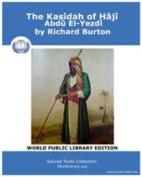 The Kasîdah of Hâjî Abdû El-Yezdî by Burton, Richard