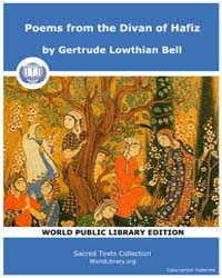 Poems from the Divan of Hafiz by Bell, Gertrude Lowthian