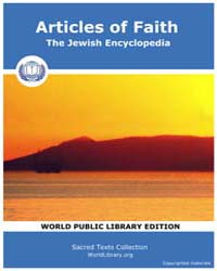 Articles of Faith, The Jewish Encycloped... by
