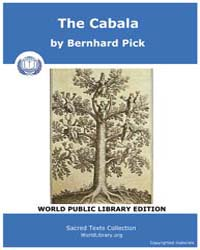 The Cabala by Pick, Bernhard