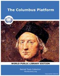 The Columbus Platform by Classic Sacred Texts