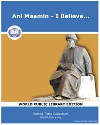 Ani Maamin - I Believe... by Jason Aronson Press, Montvale, Nj