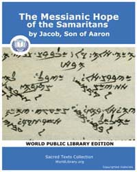The Messianic Hope of the Samaritans, Sc... by Jacob