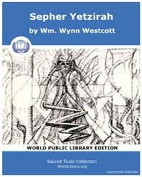 Sepher Yetzirah, Score Jud Sephir by Westcott, Wm. Wynn