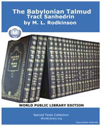The Babylonian Talmud Tract Sanhedrin, S... by Rodkinson, M. L.