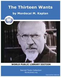 The Thirteen Wants by Kaplan, Mordecai M.