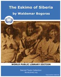 The Eskimo of Siberia VolumeVIII by Bogoras, Waldemar