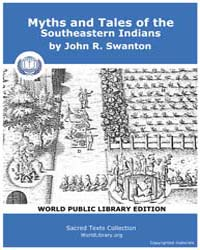 Myths and Tales of the Southeastern Indi... by Swanton, John R.