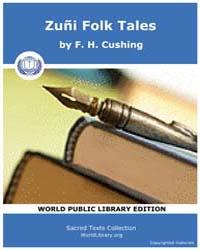 Zuñi Folk Tales, Score Nam Zft by Cushing, F. H.