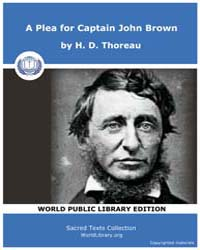A Plea for Captain John Brown by Thoreau, H. D.