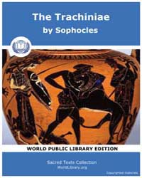 The Trachiniae, Score Soph Trachin by Sophocles