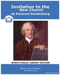 Invitation to the New Church by Swedenborg, Emanuel