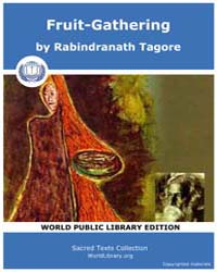 Fruit-gathering, Score Tagore Frutgath by Tagore, Rabindranath