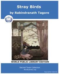 Stray Birds by Tagore, Rabindranath