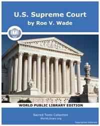 U.S. Supreme Court by Wade, Roe V.