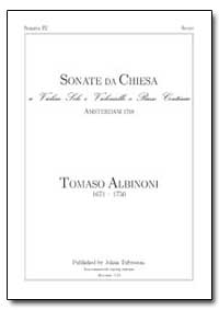 Sonate Da Chiesa a Violino Solo E Violon... by Albinoni, Tomaso