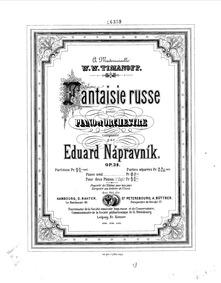 Fantasia on Russian Themes, Op.39 : Comp... Volume Op.39 by Nápravník, Eduard