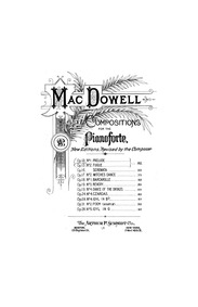 Prelude and Fugue, Op.13 : Complete Scor... Volume Op.13 by MacDowell, Edward