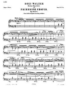 Waltzes, Op.64 : Complete Score Volume Op.64 by Chopin, Frédéric