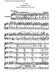 Halt im Gedächtnis Jesum Christ (Hold in... Volume BWV 67 by Bach, Johann Sebastian