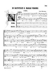 Nativitas gloriosae Virginis Mariae : Co... by Marenzio, Luca