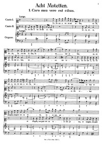 Caro mea vere est cibus : Complete score by Caldara, Antonio