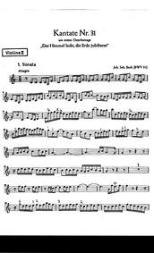 Der Himmel lacht, die Erde jubiliert (Th... Volume BWV 31 by Bach, Johann Sebastian