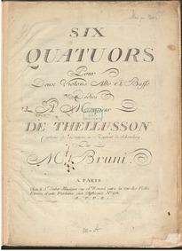 6 String Quartets, Book 9 : Cello Volume Book 9 of quartets by Bruni, Antonio Bartolomeo