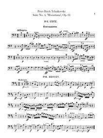 Suite No.4 (Mozartiana) : Basses Volume Op.61, TH 34 by Tchaikovsky, Pyotr