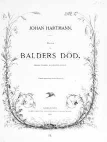 Balders død (Heroisk syngespil) : Comple... by Hartmann, Johann Ernst
