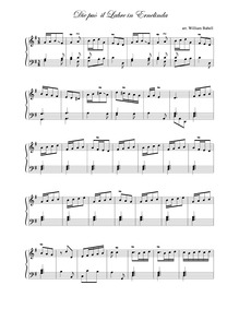 A Celebrated Lesson in G major : Die può... by Babell, William