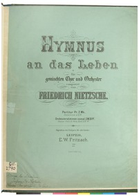 Hymnus an das Leben : Complete Score (co... Volume NWV 42 by Nietzsche, Friedrich