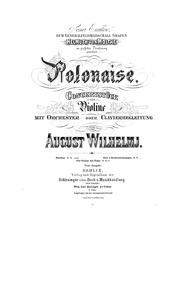 Polonaise (Polonaise. Concertstück für V... by Wilhelmj, August