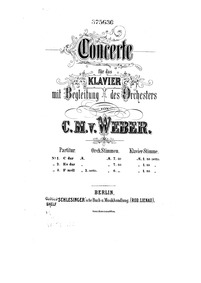 Konzertstück in F minor, Op.79 : Complet... Volume Op.79 ; J.282 by Weber, Carl Maria von