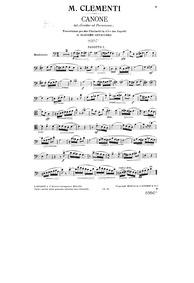 Gradus ad Parnassum, Op.44 : Bassoon 1 Volume Op.44 by Clementi, Muzio