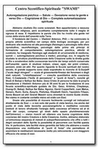 Centro Scentifico-Spirituale Swami by Antonov, Vladimir, Ph. D.