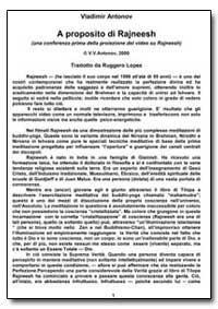 A Proposito Di Rajneesh by Antonov, Vladimir, Ph. D.
