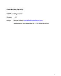 Code Access Security by Willers, Michael