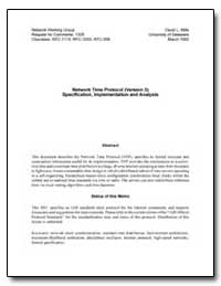 Network Time Protocol (Version 3) Specif... by Mills, David L.
