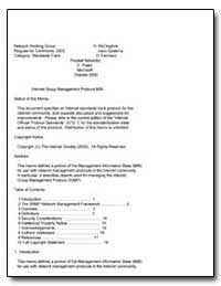 Internet Group Management Protocol Mib by Mccloghrie, K.