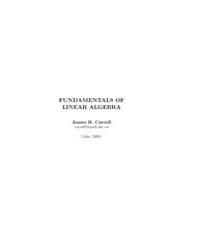 Fundamentals of Linear Algebra II by Carrell, James B.