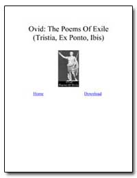 The Poems of Exile by Naso, Publius Ovidius (Ovid)