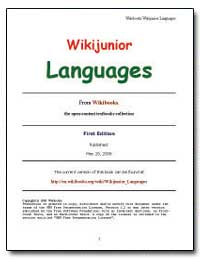 Wiki Junior Languages by Wikibooks Contributors