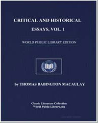 Critical and Historical Essays : Vol. 1 by Macaulay, Thomas Babington, Baron