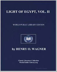 Light of Egypt, Vol. Ii by Wagner, Henry O.