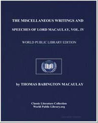 The Miscellaneous Writings and Speeches ... by Macaulay, Thomas Babington, Baron