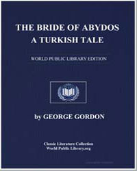 The Bride of Abydos : A Turkish Tale by Byron, Lord