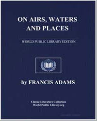 On Airs, Waters, And Places by Hippocrates